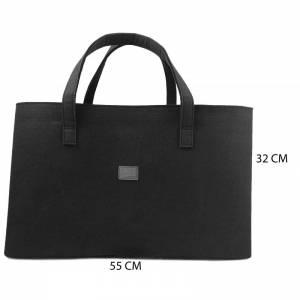 Big Shopper große Damentasche Handtasche Filztasche Umhängetasche Einkaufen Henkeltasche Tasche Filz Henkel shoppen schw Bild 4