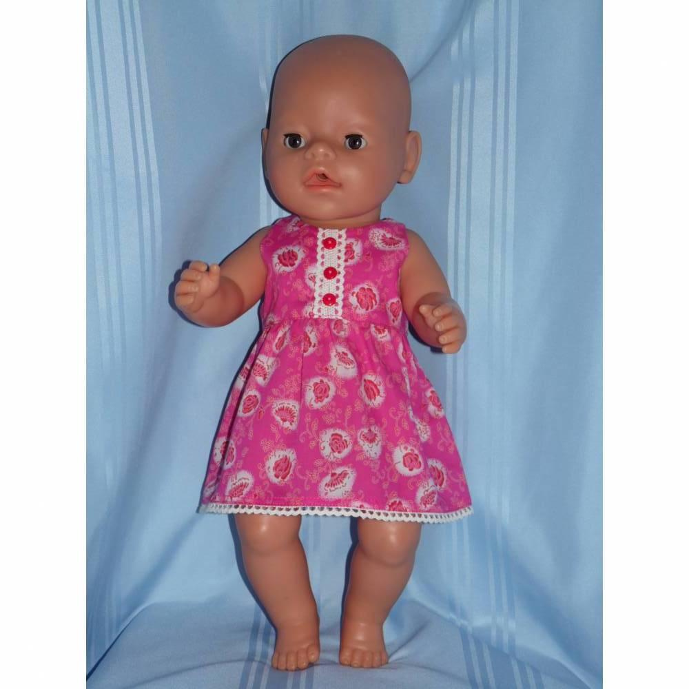 Puppenkleid pink 40-43 cm Puppen Bild 1