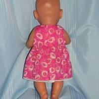 Puppenkleid pink 40-43 cm Puppen Bild 2