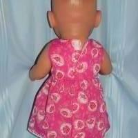 Puppenkleid pink 40-43 cm Puppen Bild 3