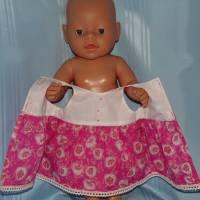Puppenkleid pink 40-43 cm Puppen Bild 4