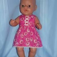 Puppenkleid pink 40-43 cm Puppen Bild 5
