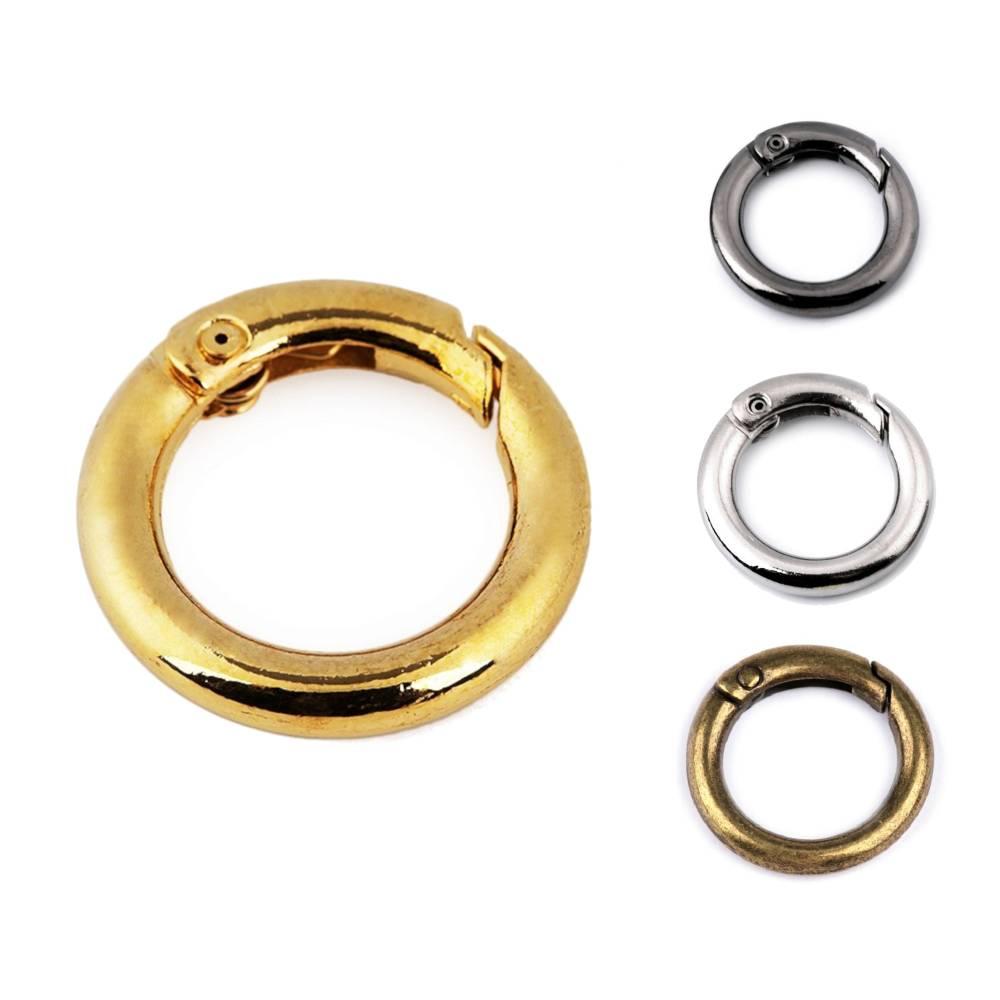 Karabiner Ring 16mm Goldfarben Bild 1