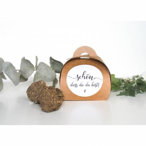 Samenbombe Gastgeschenk Kommunion | Blumensamen Gastgeschenke | Kraftpapier-Box Seedbomb vintage