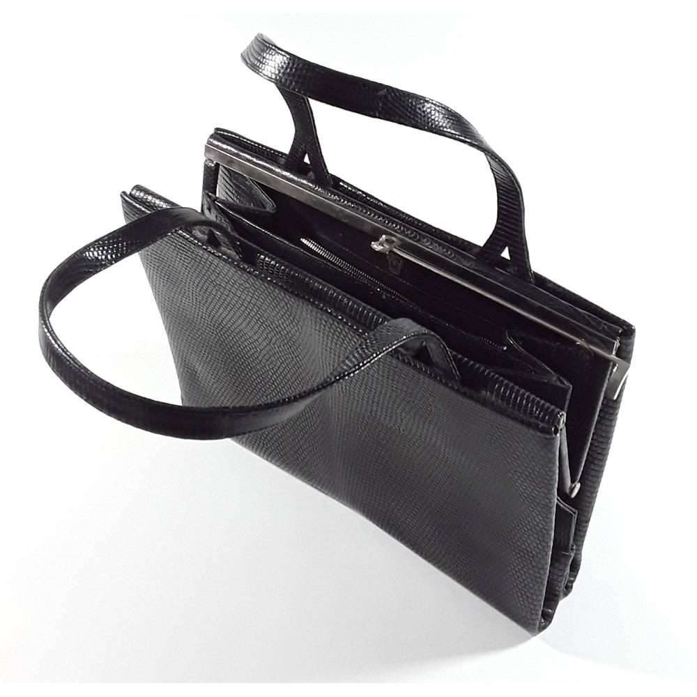 Vintage Handtasche schwarz Bild 1