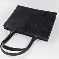 Vintage Handtasche schwarz Bild 2