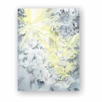 Verschneiter Wald, Wintersonne, Aquarell , Landschaft,15 x 20 cm Bild 1