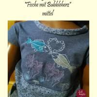 """Stickdatei """"Fische mit Bubbleherz""""+ Unterwassermotive als Ergänzung Bild 1"""