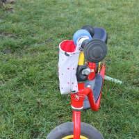 """Lenkertasche für Laufrad / Kinderrad / Roller """"Mops grau"""" Bild 3"""