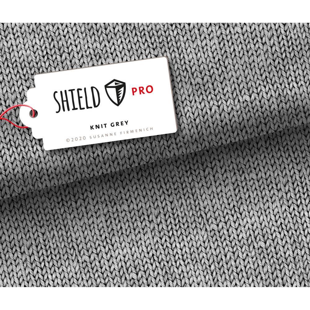 0,5m Albstoffe Shield Pro Knit Grey Bild 1