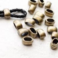 Metall Schiebeperlen für 4 mm Lederbänder, Slider, Zamak Schieber diverse Farben - ZM191 Bild 4