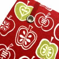 """Notizbuch Rezeptbuch """"An Apple a Day"""" Hardcover A5 stoffbezogen Äpfel Retro Hobbybäcker Fan Geschenk  Bild 4"""
