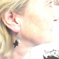 Ohrhänger mit Stern und Muscheln nachhaltig und recycling, originelle Geschenkidee Bild 3