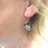 Ohrhänger mit Stern und Muscheln nachhaltig und recycling, originelle Geschenkidee Bild 4