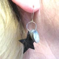 Ohrhänger mit Stern und Muscheln nachhaltig und recycling, originelle Geschenkidee Bild 5