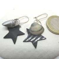 Ohrhänger mit Stern und Muscheln nachhaltig und recycling, originelle Geschenkidee Bild 9