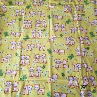 Vintage, Überzug, Bettwäsche Baby Kleinkind 128x96 cm grün Katzen, Baumwolle Bild 3