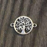 """Schmuckverbinder """"Lebensbaum"""" 925 Silber, Verbinder, Zwischenelement Bild 1"""