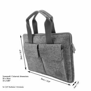 12,9 - 13,3 Zoll Tasche Schutzhülle Schutztasche Aktentasche Handtasche für MacBook / Air / Pro, iPad Pro, Surface, Lapt Bild 2