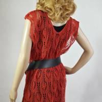 Lace-Tunika Mini-Kleid Unikat handgestrickt Bild 2