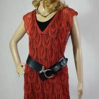 Lace-Tunika Mini-Kleid Unikat handgestrickt Bild 3