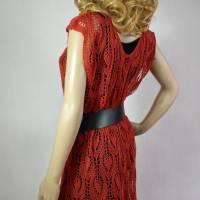 Lace-Tunika Mini-Kleid Unikat handgestrickt Bild 4