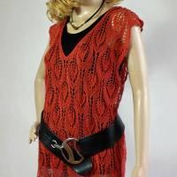 Lace-Tunika Mini-Kleid Unikat handgestrickt Bild 5