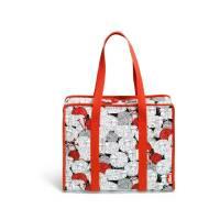 Handarbeitstasche Prym All-in-one Tasche Merino rot/weiß häkeln- stricken Bild 2