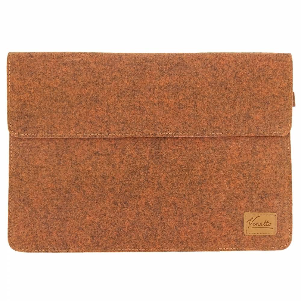 """12.9 / 13.3 """" Hülle Tasche für iPad MacBook Schutzhülle für Notebook Laptop 13 Zoll Etui aus Filz Orange meliert Bild 1"""