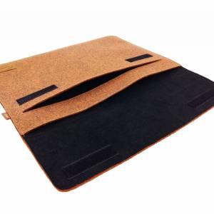 """12.9 / 13.3 """" Hülle Tasche für iPad MacBook Schutzhülle für Notebook Laptop 13 Zoll Etui aus Filz Orange meliert Bild 2"""