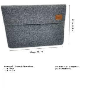 """12.9 / 13.3 """" Hülle Tasche für iPad MacBook Schutzhülle für Notebook Laptop 13 Zoll Etui aus Filz Orange meliert Bild 3"""