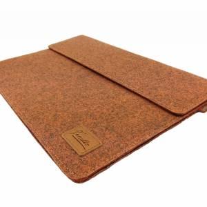 """12.9 / 13.3 """" Hülle Tasche für iPad MacBook Schutzhülle für Notebook Laptop 13 Zoll Etui aus Filz Orange meliert Bild 4"""