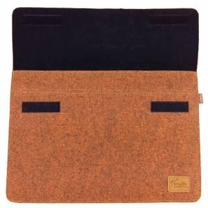 """12.9 / 13.3 """" Hülle Tasche für iPad MacBook Schutzhülle für Notebook Laptop 13 Zoll Etui aus Filz Orange meliert Bild 5"""