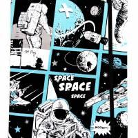 """Notizbuch """"Astronaut"""" 17,5 x 23 cm (ähnlich A5) stoffbezogen Weltraumfahrer Astronaut Planeten Universum Comic Bild 2"""