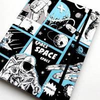 """Notizbuch """"Astronaut"""" 17,5 x 23 cm (ähnlich A5) stoffbezogen Weltraumfahrer Astronaut Planeten Universum Comic Bild 5"""