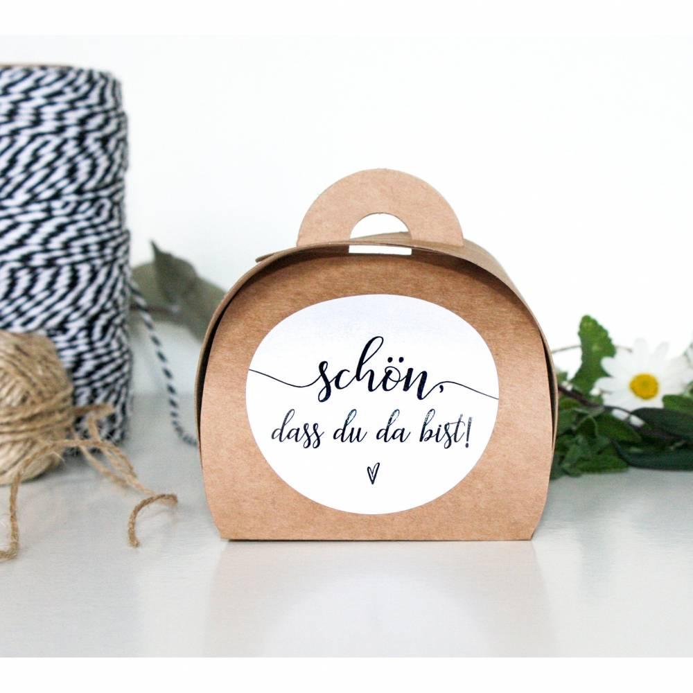 Kraftpapier Päckchen für Gastgeschenke 10 x | Recycling Schachteln für Hochzeit, Taufe, Kommunion | vintage  Bild 1