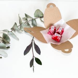 Kraftpapier Päckchen für Gastgeschenke 10 x | Recycling Schachteln für Hochzeit, Taufe, Kommunion | vintage  Bild 4