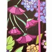 """Notizbuch Tagebuch """"Purple Blossom"""" A5 Hardcover stoffbezogen Blume Blüte Garten Fan Geschenk  Bild 2"""
