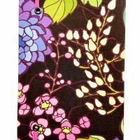 """Notizbuch Tagebuch """"Purple Blossom"""" A5 Hardcover stoffbezogen Blume Blüte Garten Fan Geschenk  Bild 4"""