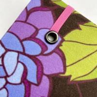 """Notizbuch Tagebuch """"Purple Blossom"""" A5 Hardcover stoffbezogen Blume Blüte Garten Fan Geschenk  Bild 5"""