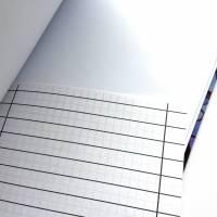 """Notizbuch Tagebuch """"Purple Blossom"""" A5 Hardcover stoffbezogen Blume Blüte Garten Fan Geschenk  Bild 6"""