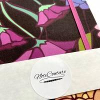 """Notizbuch Tagebuch """"Purple Blossom"""" A5 Hardcover stoffbezogen Blume Blüte Garten Fan Geschenk  Bild 7"""