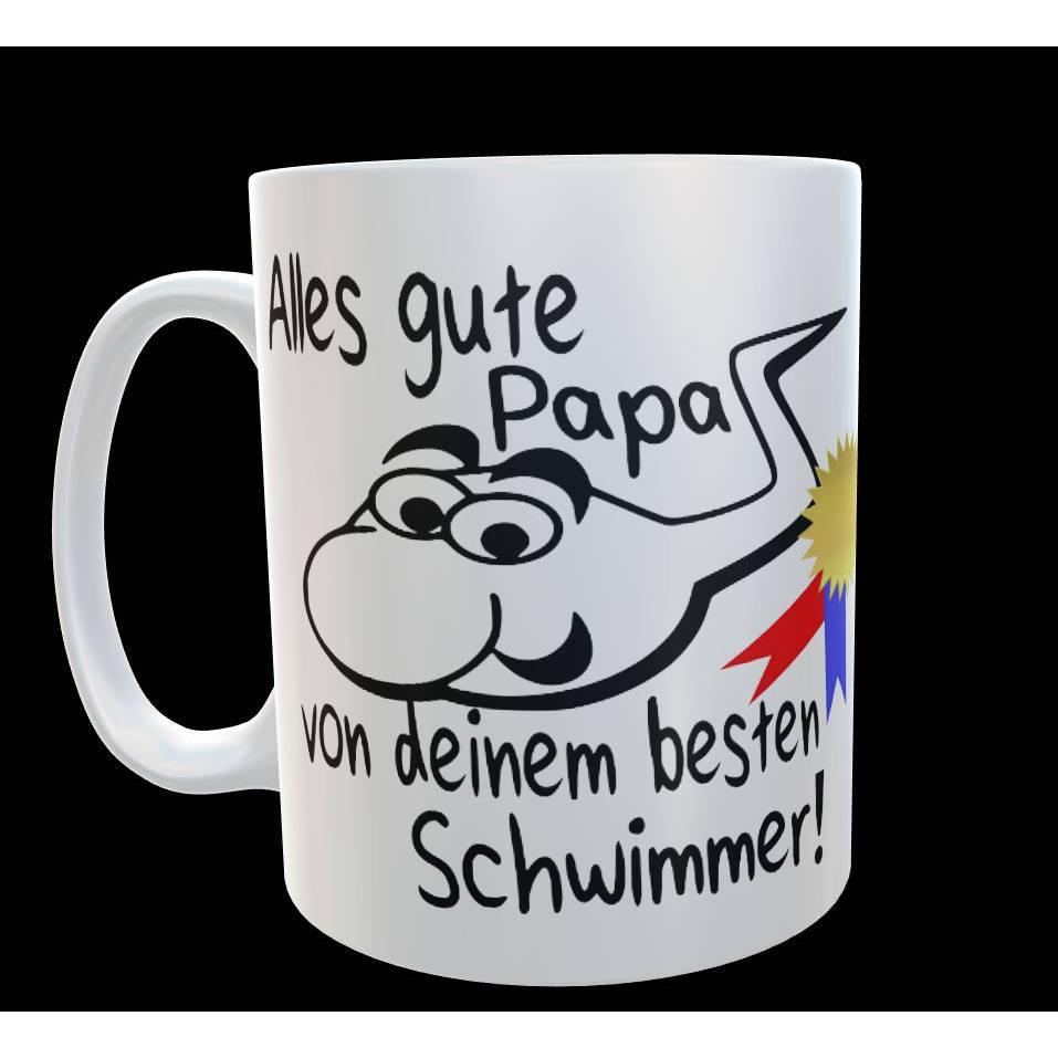 """Fun Tasse """"Alles gute Papa von deinem besten Schwimmer"""" Geschenk Papa Bild 1"""