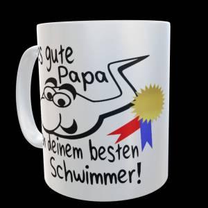 """Fun Tasse """"Alles gute Papa von deinem besten Schwimmer"""" Geschenk Papa Bild 2"""