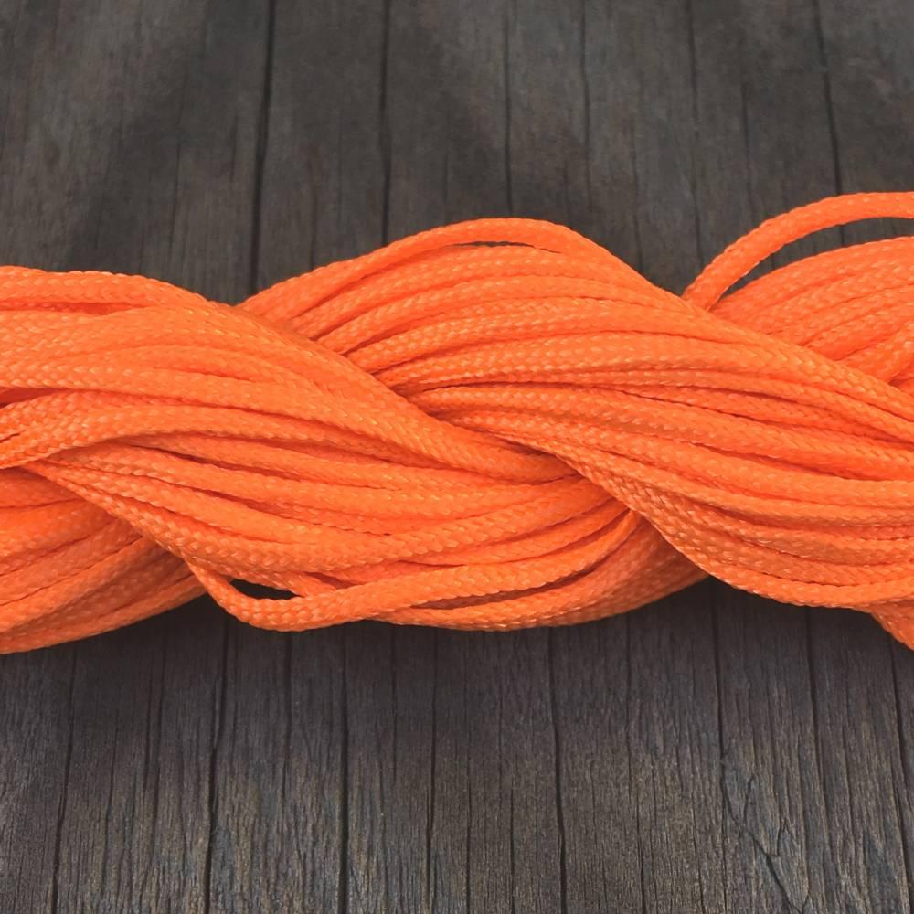 """Makrameeband in """"orange"""", 3 Meter, 1 mm, Polyesterschnur Bild 1"""