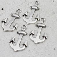 Maritimer Anker Anhänger zur Schmuckherstellung, DIY, Metall Zamak Charms - ZM04 Bild 2