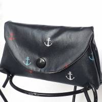 Mini Täschchen Wachstuch Anker maritim Masken-Tasche Taschentuchtasche Bild 1