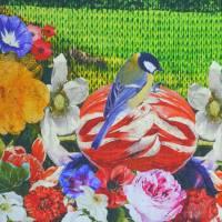 Stenzo Jersey Digitaldruck Hirsch mit Eule Panel 120 x 150 cm Bild 5