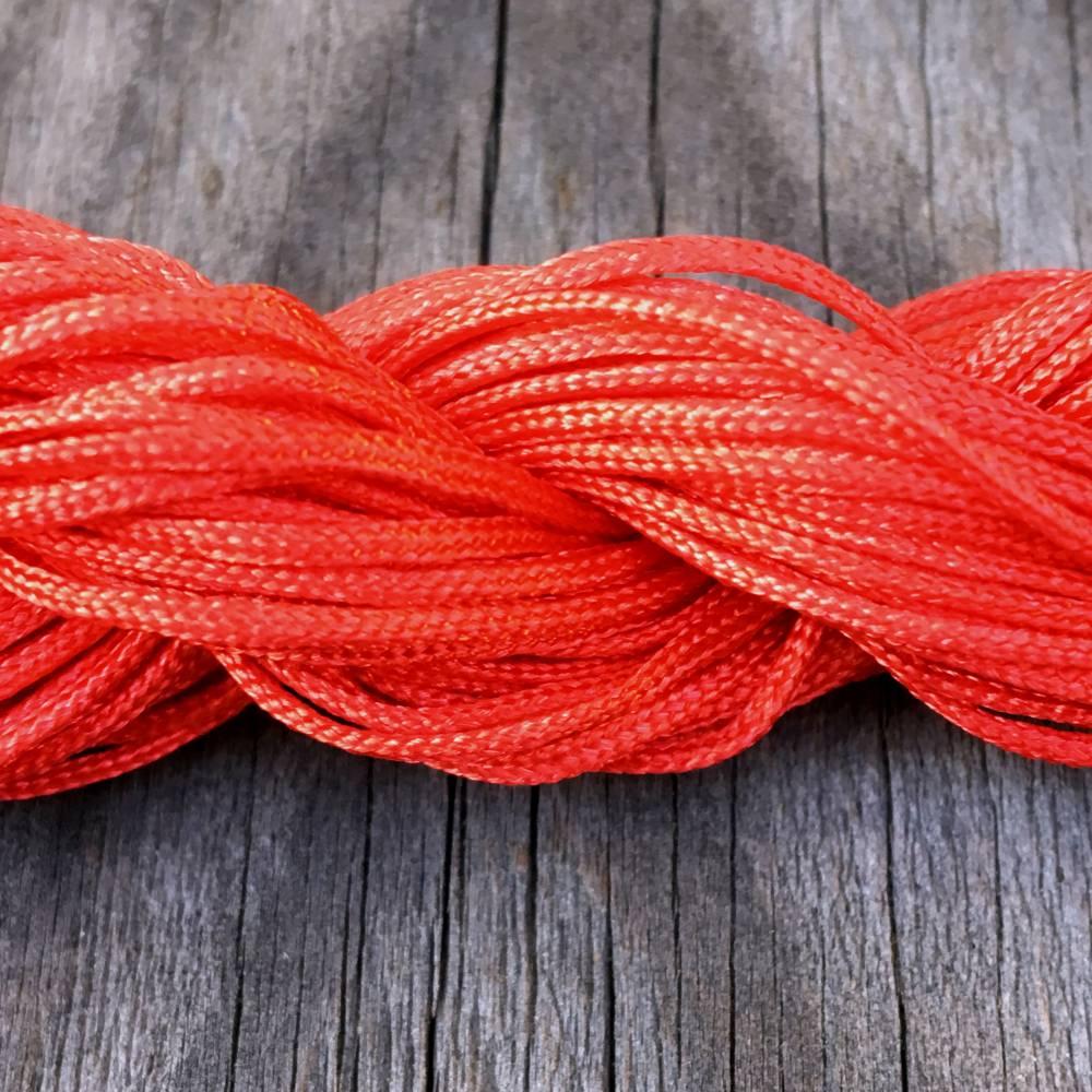"""Makrameeband in """"rot"""", 3 Meter, 1mm, Polyester Bild 1"""