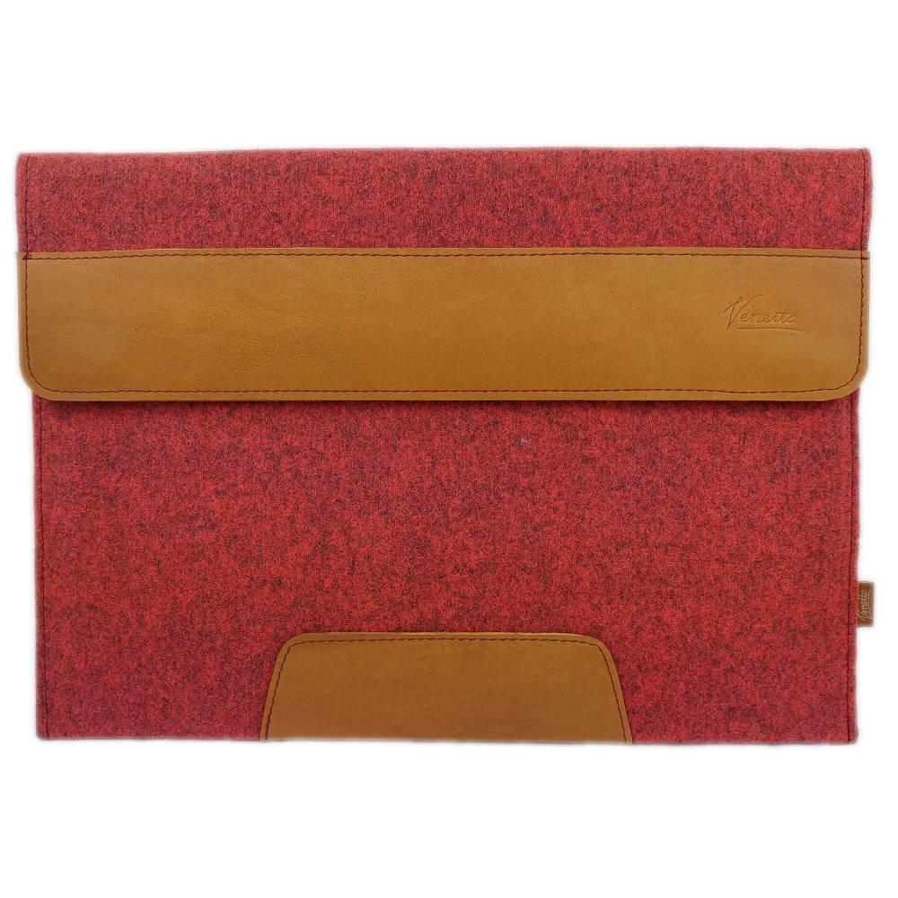 15,4 Zoll Hülle Schutztasche Tasche Sleeve Filztasche Leder-Tasche Laptoptasche für Acer MacBook Pro 16, Asus HP Laptop  Bild 1